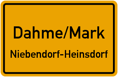 Heinsdorf-Parlstr. Dahme/Mark Niebendorf-Heinsdorf