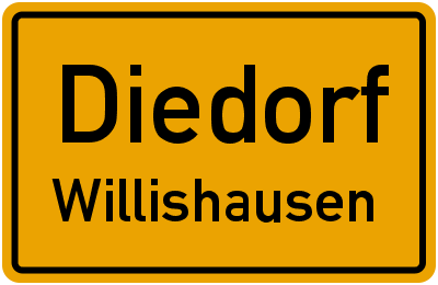 Deubacher Straße in DiedorfWillishausen
