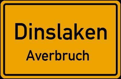 Ortsschild Dinslaken Averbruch