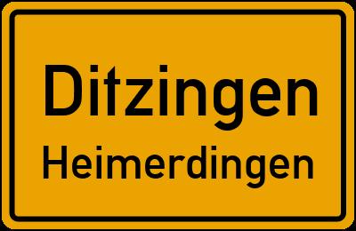Hemminger Straße in DitzingenHeimerdingen