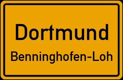 Straßenverzeichnis Dortmund Benninghofen-Loh