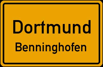 Straßenverzeichnis Dortmund Benninghofen