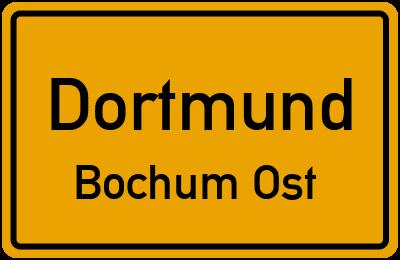 Straßenverzeichnis Dortmund Bochum Ost