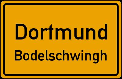 Straßenverzeichnis Dortmund Bodelschwingh