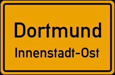 Ortsschild Dortmund Innenstadt-Ost