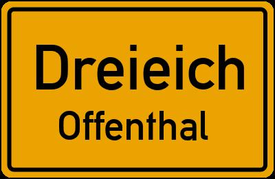 Ortsschild Dreieich Offenthal