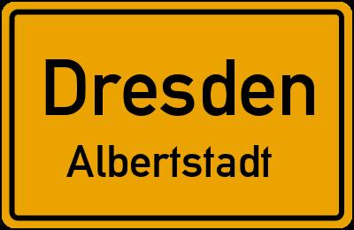 Straßenverzeichnis Dresden Albertstadt