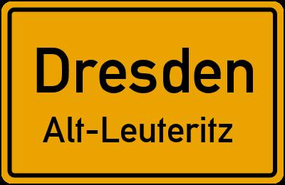 Ortsschild Dresden Alt-Leuteritz