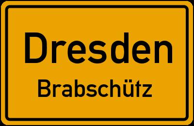 Ortsschild Dresden Brabschütz
