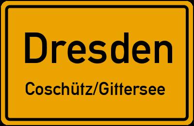 Ortsschild Dresden Coschütz/Gittersee