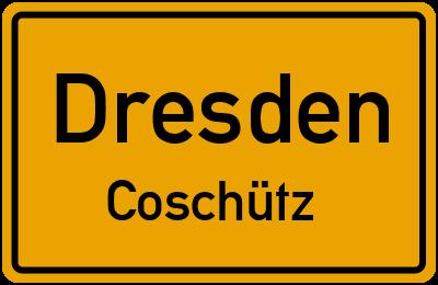 Ortsschild Dresden Coschütz