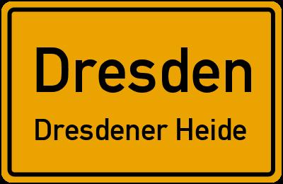 Ortsschild Dresden Dresdener Heide