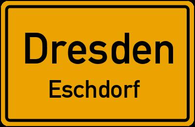Ortsschild Dresden Eschdorf