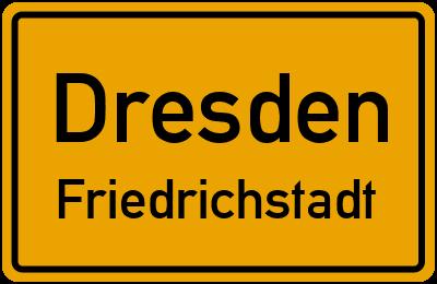 Ortsschild Dresden Friedrichstadt