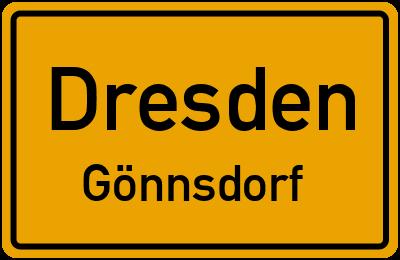 Ortsschild Dresden Gönnsdorf