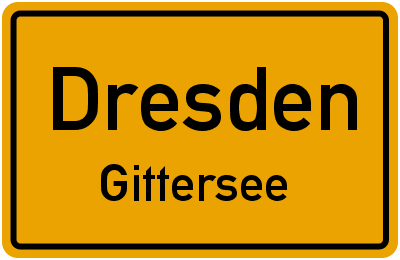 Ortsschild Dresden Gittersee