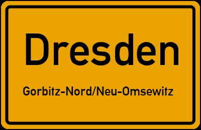 Ortsschild Dresden Gorbitz-Nord/Neu-Omsewitz