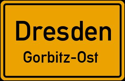 Ortsschild Dresden Gorbitz-Ost