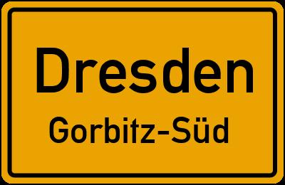 Ortsschild Dresden Gorbitz-Süd