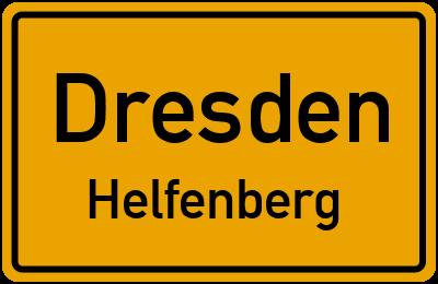 Ortsschild Dresden Helfenberg