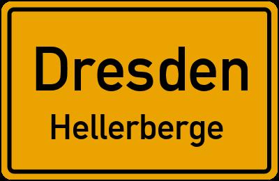 Ortsschild Dresden Hellerberge