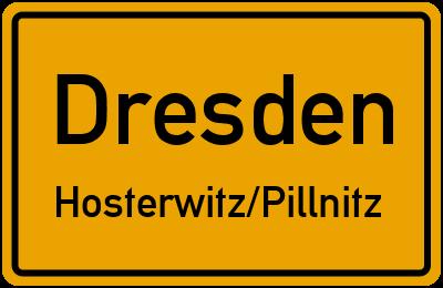 Ortsschild Dresden Hosterwitz/Pillnitz