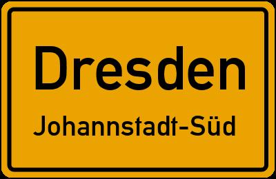 Ortsschild Dresden Johannstadt-Süd