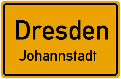 Ortsschild Dresden Johannstadt