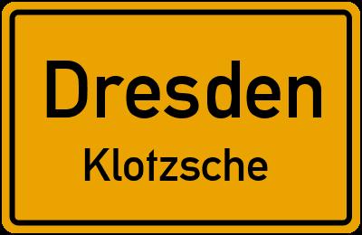 Straßenverzeichnis Dresden Klotzsche