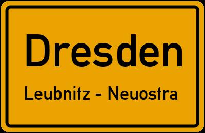 Straßenverzeichnis Dresden Leubnitz - Neuostra