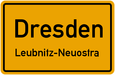 Ortsschild Dresden Leubnitz-Neuostra