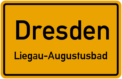 Straßenverzeichnis Dresden Liegau-Augustusbad