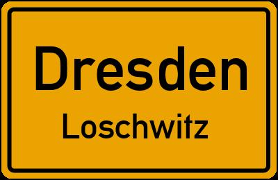 Dresdner Straße in DresdenLoschwitz
