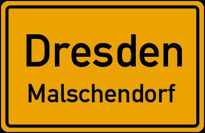 Ortsschild Dresden Malschendorf