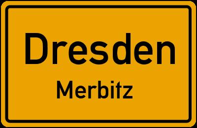 Ortsschild Dresden Merbitz