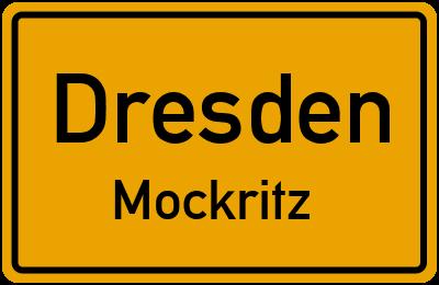 Ortsschild Dresden Mockritz
