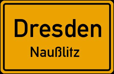 Ortsschild Dresden Naußlitz