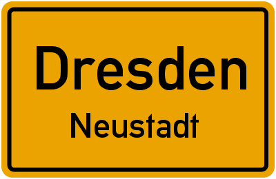 Hauptstraße in DresdenNeustadt
