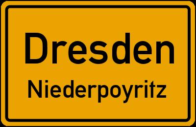 Straßenverzeichnis Dresden Niederpoyritz