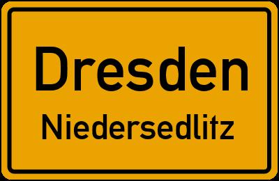 Ortsschild Dresden Niedersedlitz