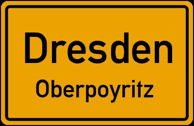 Ortsschild Dresden Oberpoyritz