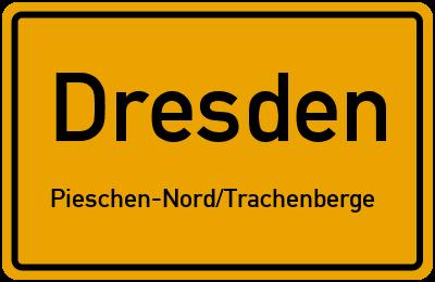 Ortsschild Dresden Pieschen-Nord/Trachenberge