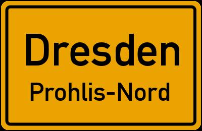 Ortsschild Dresden Prohlis-Nord