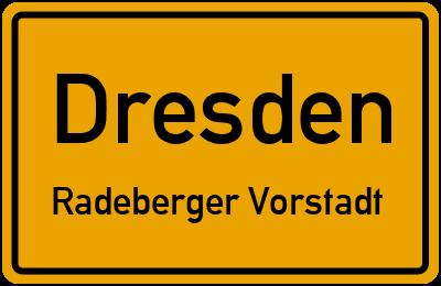 Ortsschild Dresden Radeberger Vorstadt