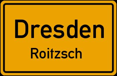 Ortsschild Dresden Roitzsch