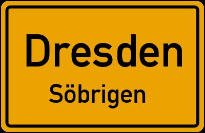 Ortsschild Dresden Söbrigen