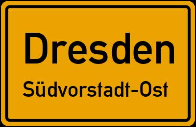 Ortsschild Dresden Südvorstadt-Ost