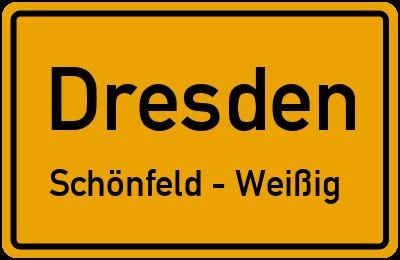 Straßenverzeichnis Dresden Schönfeld - Weißig