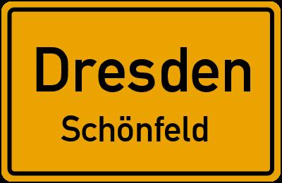 Ortsschild Dresden Schönfeld