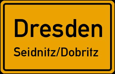Ortsschild Dresden Seidnitz/Dobritz